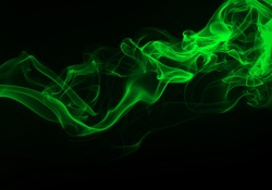 Green Smoke abstract background for design. darkness concept
