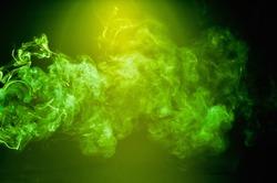 Green smoke movement patterns of background graphics.