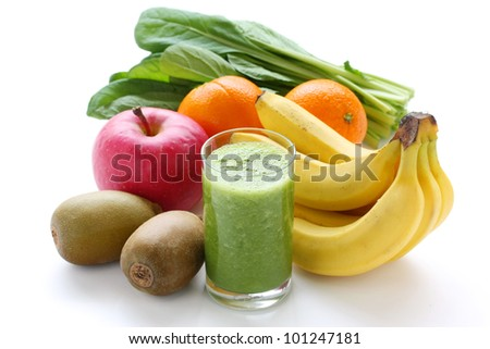 green smoothie - stock photo
