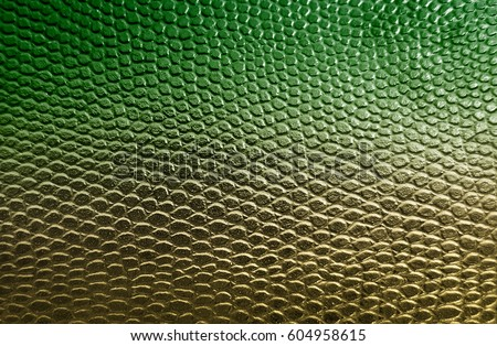 Green snake skin texture background #604958615