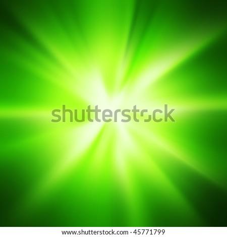 Green space warp background
