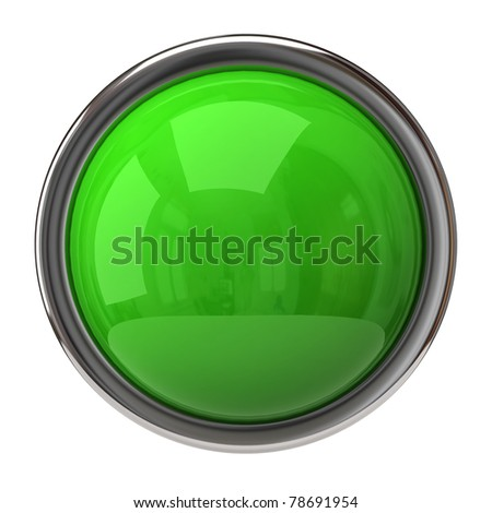 Green sphere and ring - stock photo