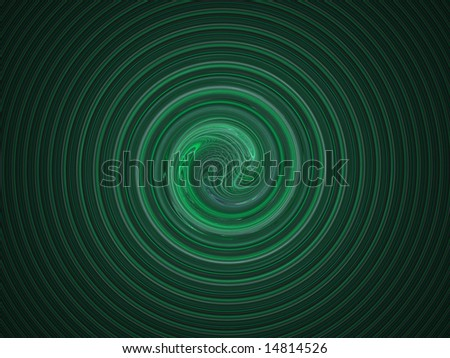 Green spiral background - Computer generated high resolution graphic