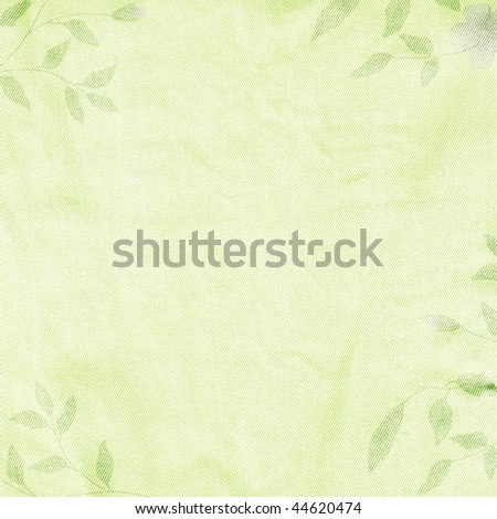 Green spring romantic background with branches