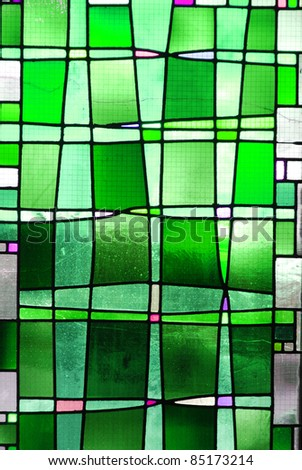 Green square background
