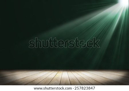 green stage light as background