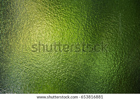 Green stained glass window texture. #653816881