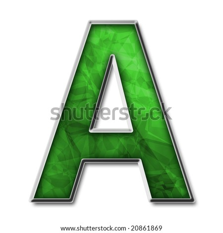 letter a. silver capital letter A