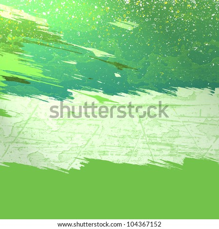 green stripes of paint