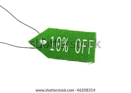 green tag sale 10%