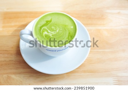 Green tea - matcha green tea.