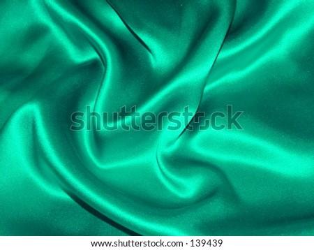 Green / Teal satin fabric