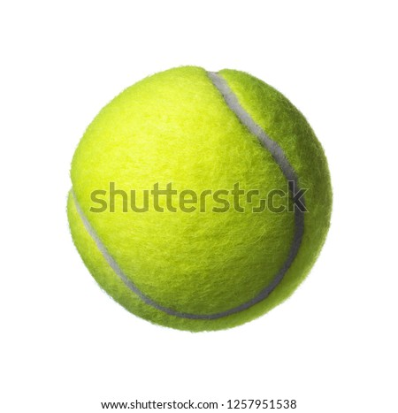 green tennis ball isolated on white #1257951538