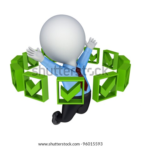 Images Green Tick Green Tick Marks Around 3d