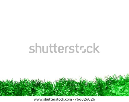 Green Tinsel as lower border for background, appears like grass #766826026