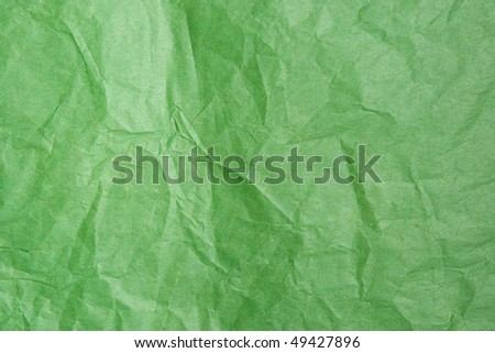 Green Tissue Paper Texture Closeup. Focus evenly across surface.