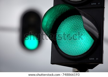 Green traffic light #748866193