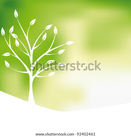 Green tree design background, abstract
