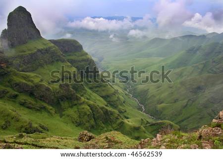 Green vally in the Drakensberg south africa