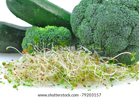 green vegetables with sprouts