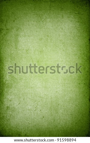 Green vintage paper texture or background - stock photo
