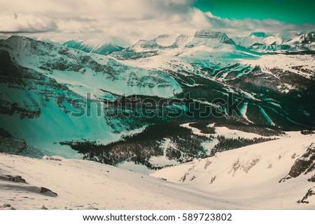 green vintage photo of steep...