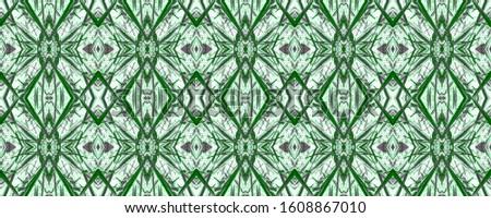 Green Vintage Seamless Background. Ornamental Geometry. Ornamental Geometry. Golden Black Embroidery net. Old fashion Design. Bright Kaleidoscope Art. Floral Pattern. Floral Pattern.
