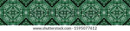 Green Vintage Seamless Background. Ornamental Geometry. Ornamental Geometry. Golden Silver Oriental style. Old fashion Design. Royal Kaleidoscope Pattern Floral Design. Floral Pattern.