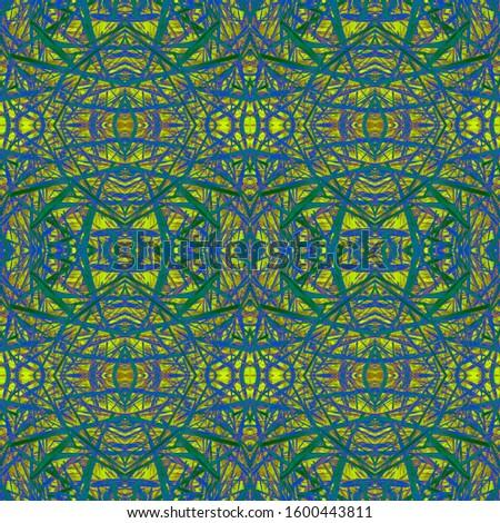 Green Vintage Seamless Background. Ornate Tile Background Ornate Tile Background Golden Black Dressing element Antique Element Luxury Kaleidoscope Art. Floral Elements Floral Design.