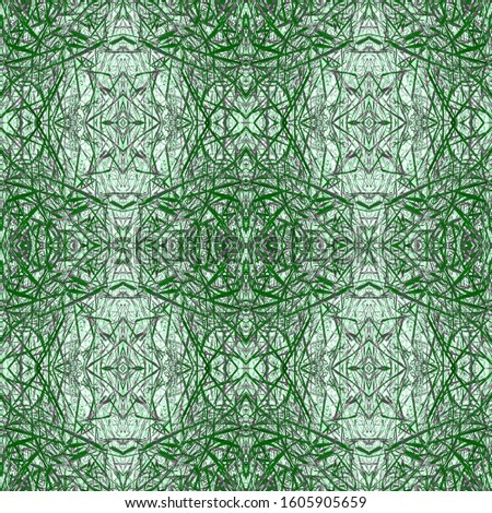 Green Vintage Seamless Pattern Tile. Ornate Tile Background Ornate Tile Background