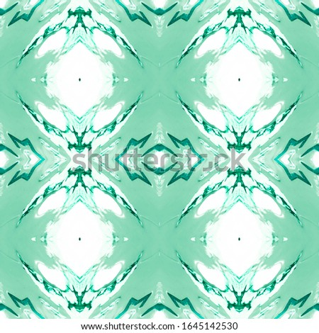 Green Vintage Seamless Pattern Tile. Ornate Tile Background Ornate Tile Background Golden Green Decoration print. Old fashion Design. Luxury Kaleidoscope Effect. Floral Elements Floral Pattern.