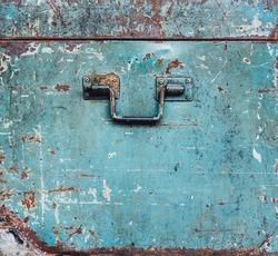 green vintage steel rust box background texture