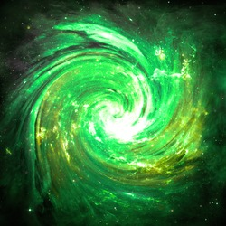 Green Vortex  - Elements of this Image Furnished by NASA