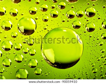 green water bubbles