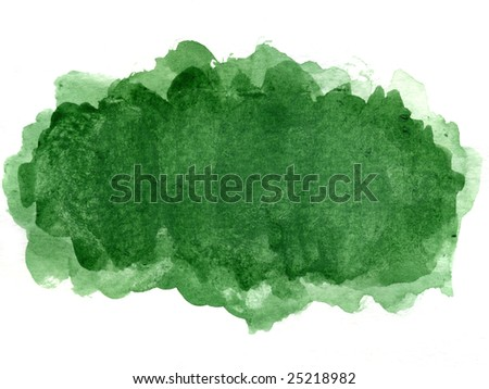 green watercolor blotch