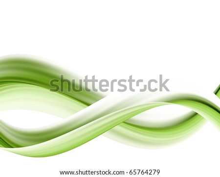 Green wave and blank space to insert text or design abstract background