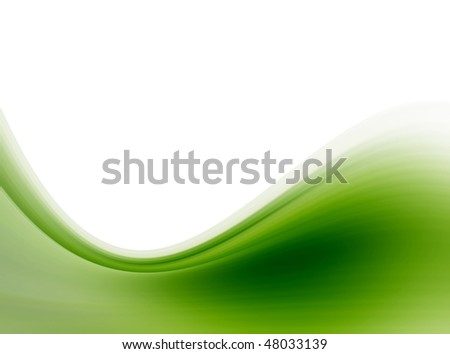 Green wave over white background, Space to insert text or design