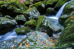 Green whirlpool (Zeleni vir) and Devil's passage (Vrazji prolaz) beautiful trip place close to Skrad, Croatia