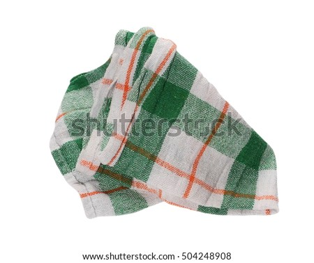 d3167ea63 Crumpled green microfiber cloth isolated on white background Images ...