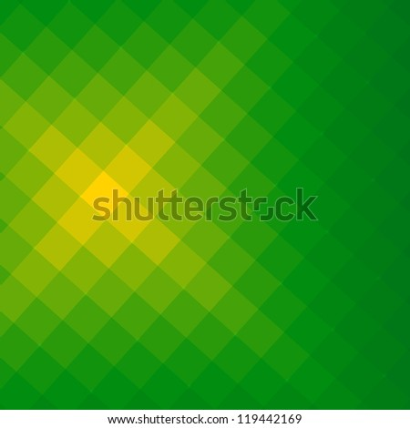 Green with light, abstract pattern background with squares