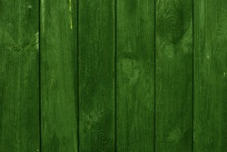 Green Wood Planks Background.