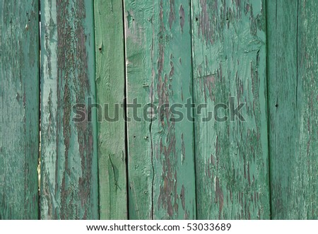 Green wooden wall pattern