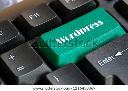 Green  Wordpress keyboard button