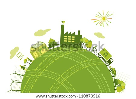 Green world concept - stock photo