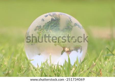 green world in grass background