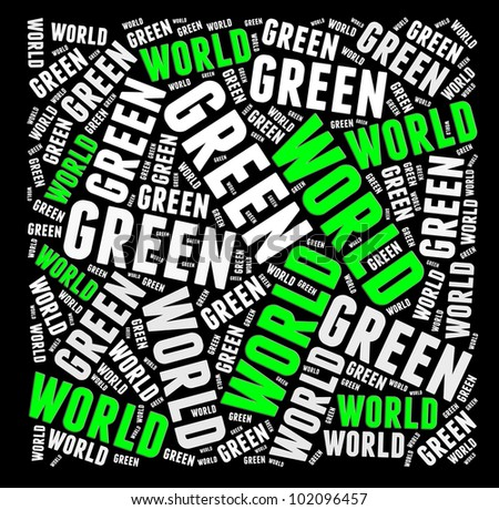 Green world info-text graphics and arrangement concept