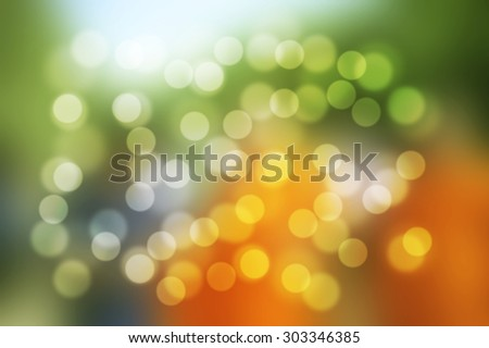 Green Yellow orange blurred background and Green abstract background.