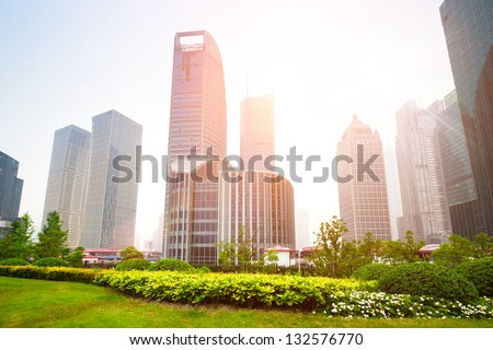 greenbelt park in shanghai financial center district
