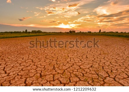 Greenhouse effect Greenhouse effect And the El Niño phenomenon. The weather changes and changes. In Southeast Asia Drought and earth quickly cracked.  #1212209632