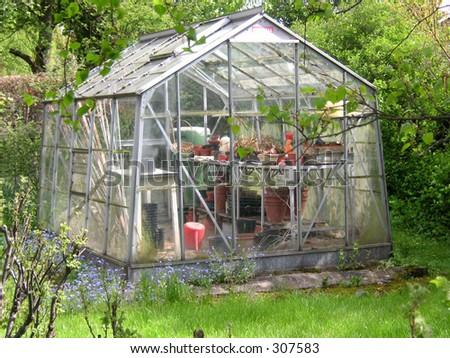 greenhouse in a garden